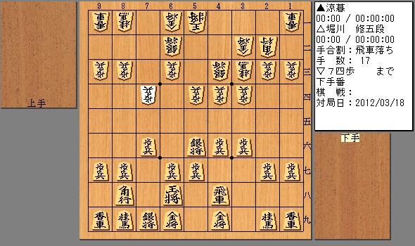 2012/03/18 堀川五段 17手目