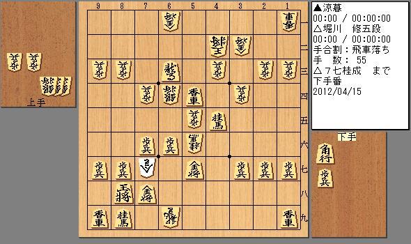 2012/04/15 堀川五段 55手目